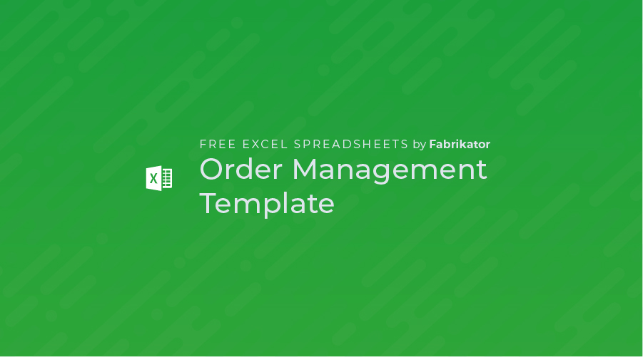 Order Management Template Excel Spreadsheet (Free)