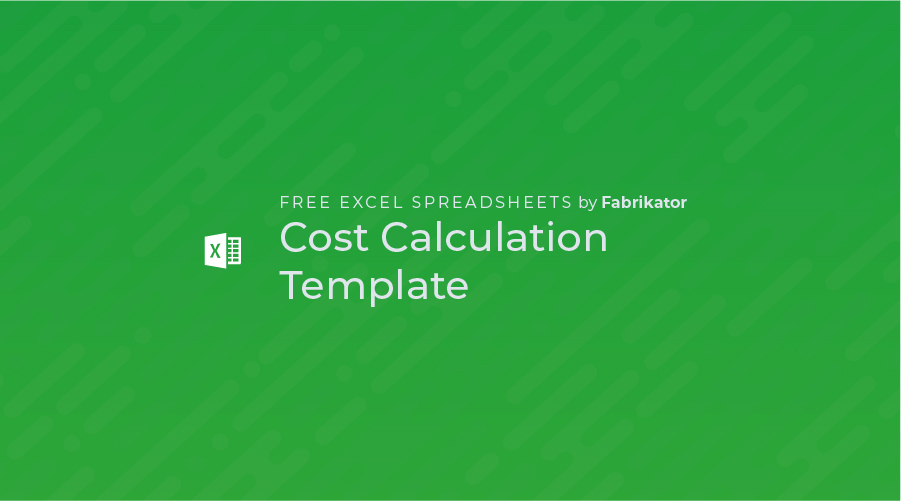 Cost Calculation Excel Template (Free)