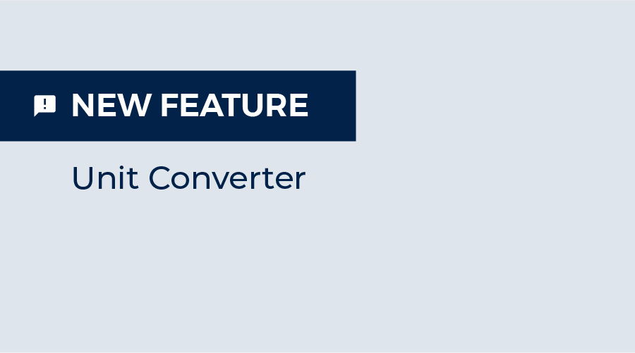 New Feature is on: Unit Converter!